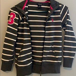 Girls polo zip hoodie
